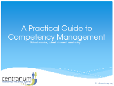 A Practical Guide to Competency Management