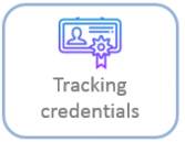 tracking credentials