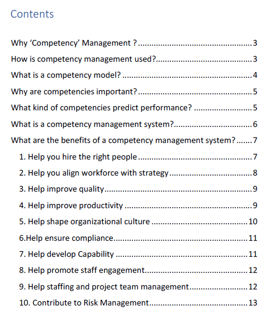 Competency Management - Business Case